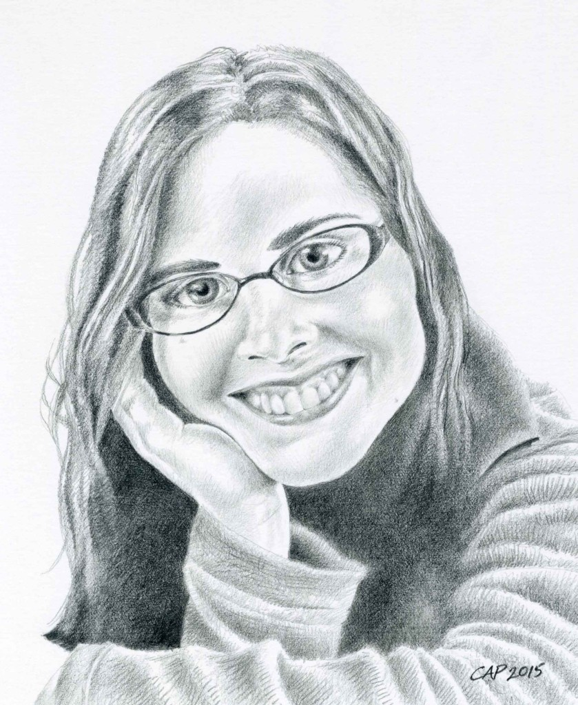 Self Portrait with a Smile by Carolyn A Pappas