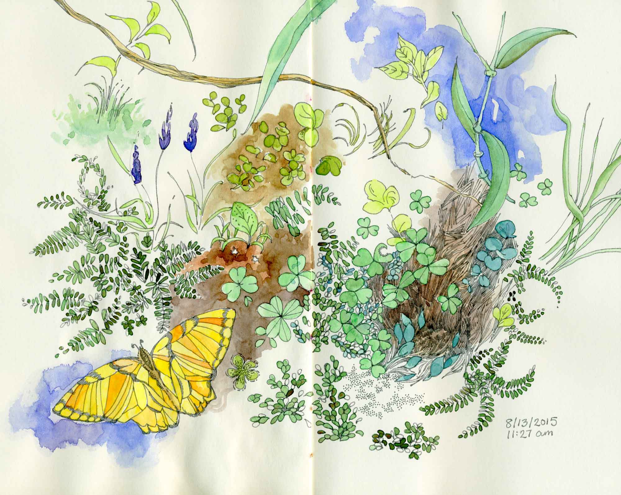 Imaginative garden drawing by Carolyn A Pappas