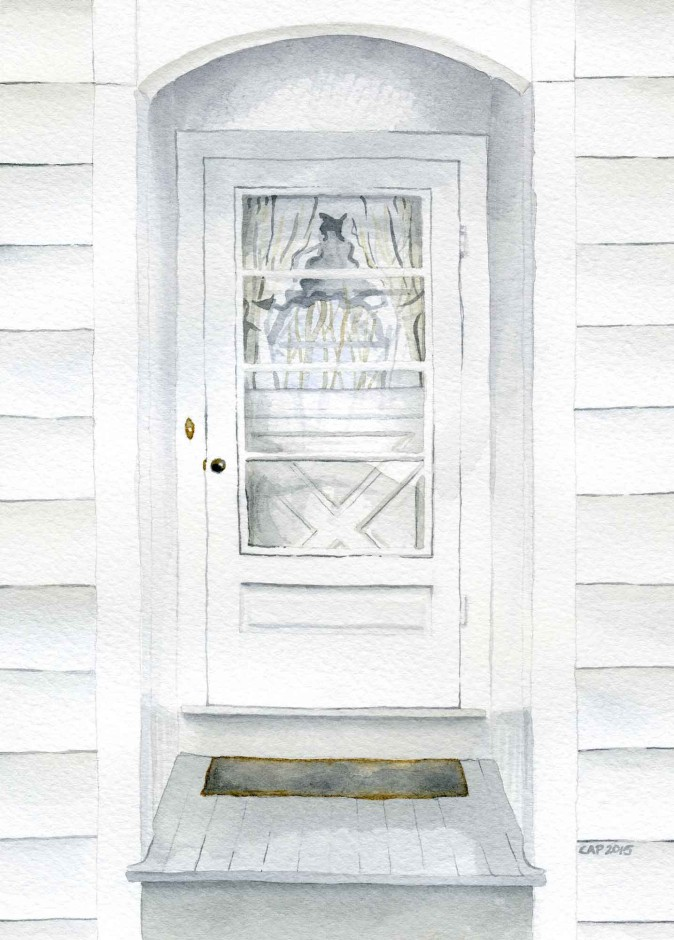 Front Door watercolor