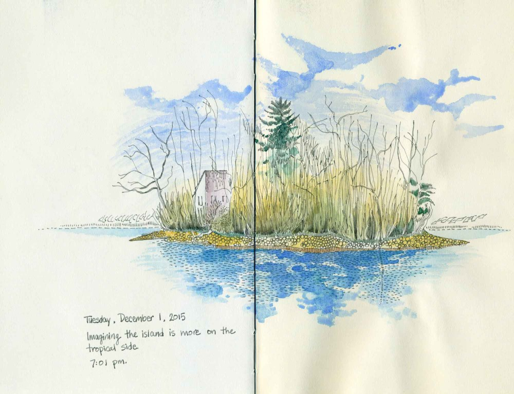 island drawing by Carolyn A Pappas