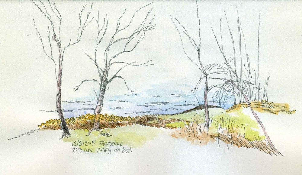 Shoreline Sketch by Carolyn A Pappas