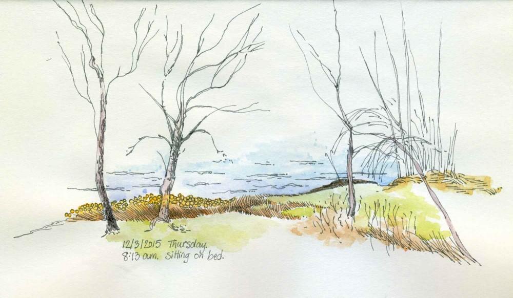 Shoreline Sketch by Carolyn A Pappas