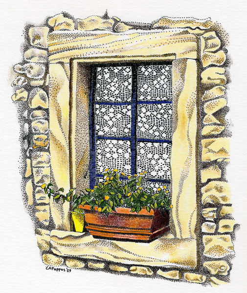 pen and ink window