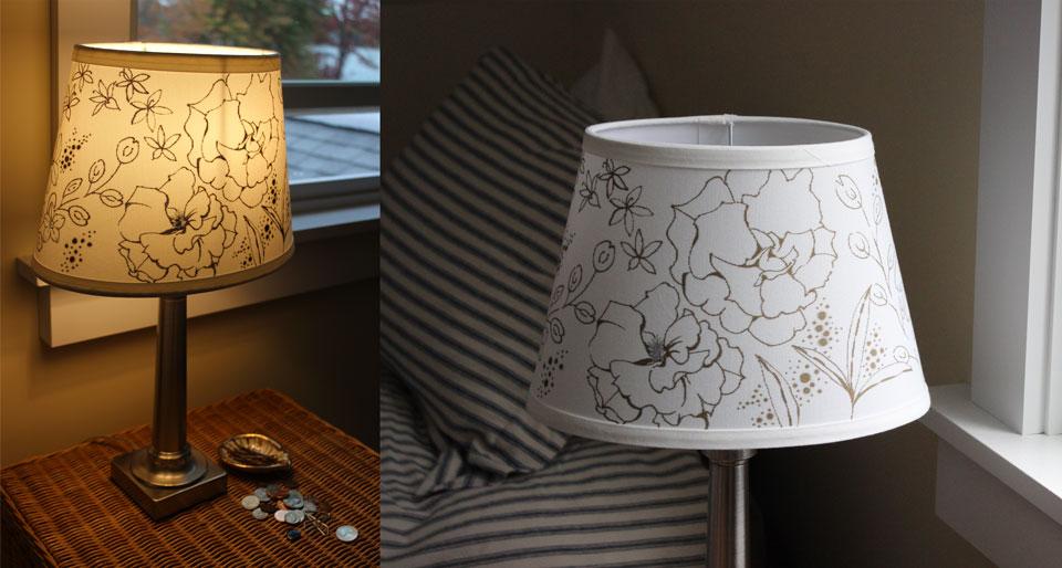 drawn embellished lamp shade