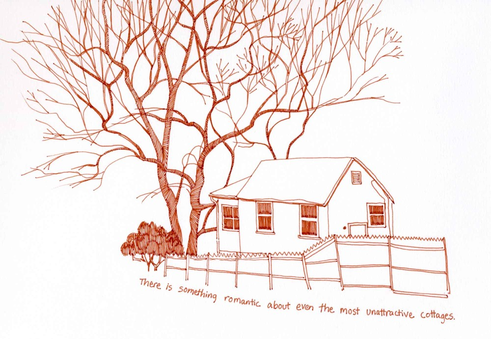 Cottage sketch by Carolyn A Pappas