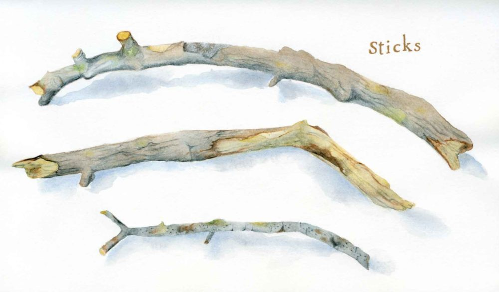 sticks drawing