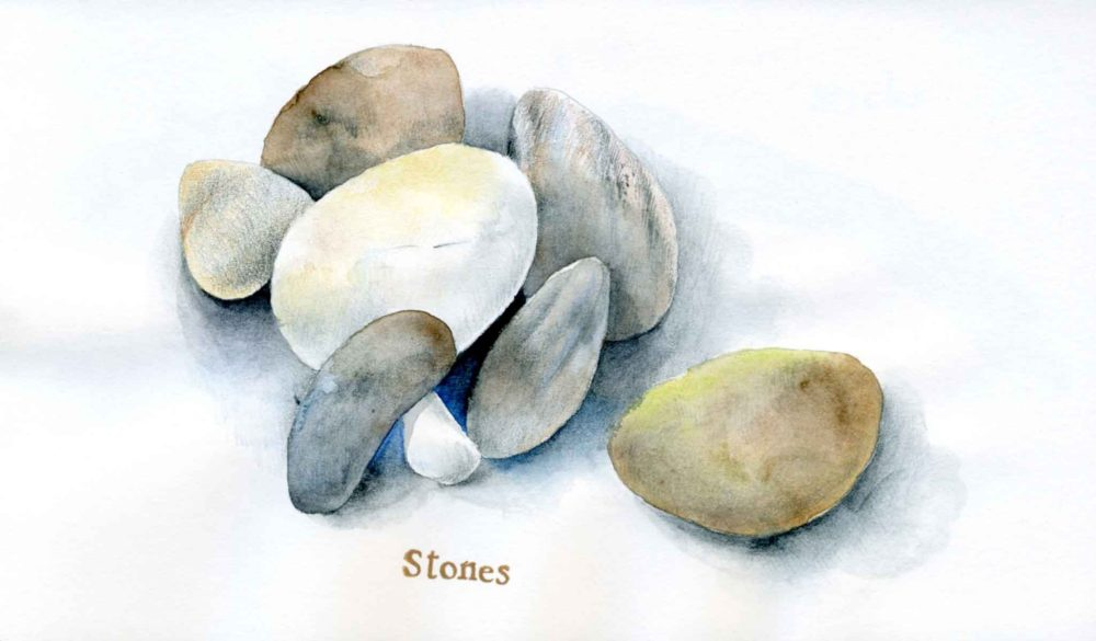 stones drawing