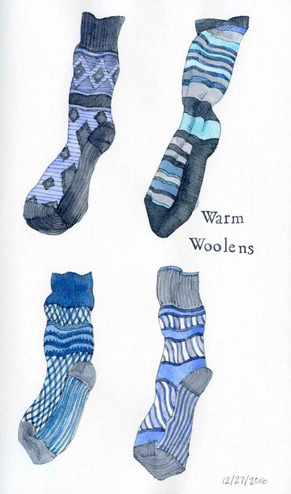 wool socks sketch
