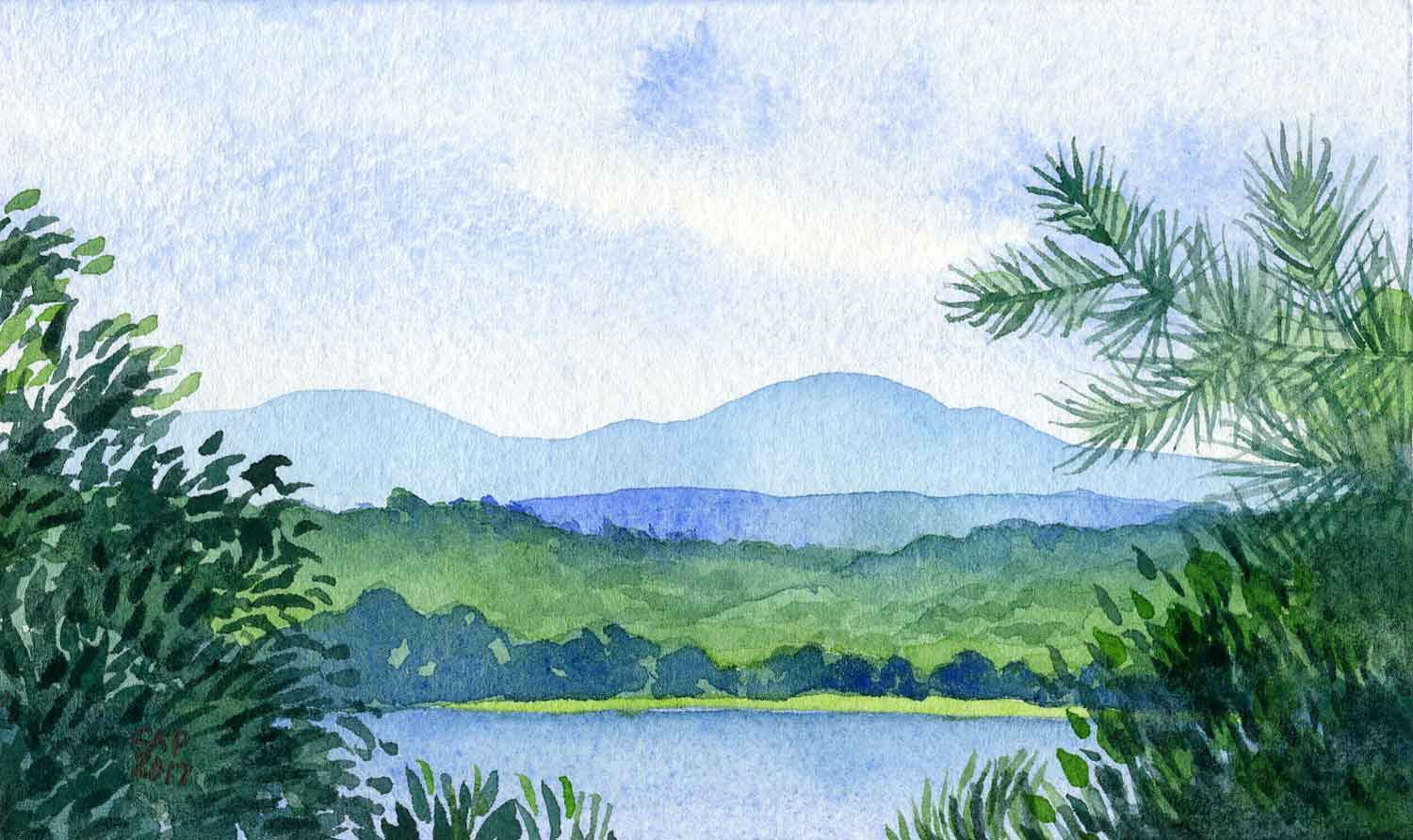 watercolor landscape painting