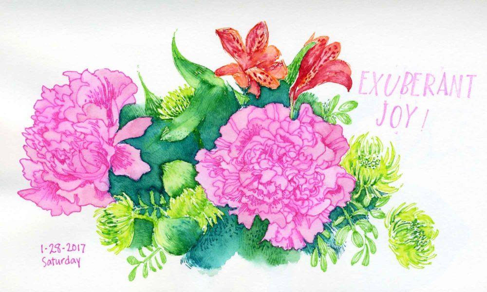 flower sketchbook drawing